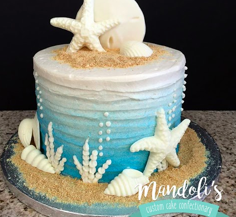 Sea Shell Theme Cake
