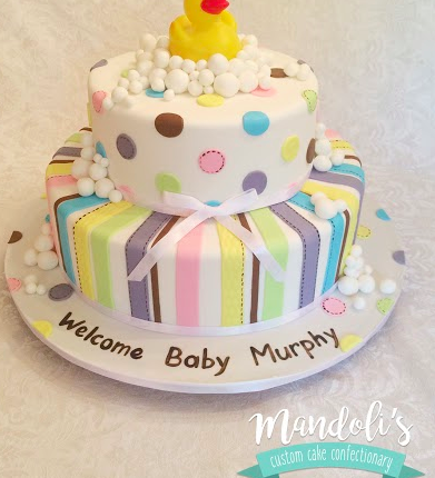 A Rubber Duck Baby Cake