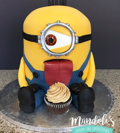 A Minion Licking Cake