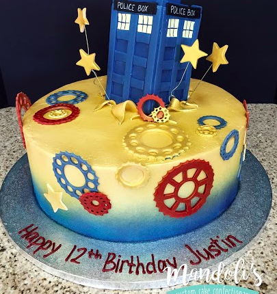 A Police Box Birthday Cake