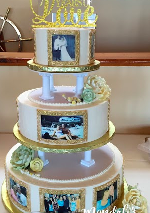 A 50th Wedding Anniversary Cake