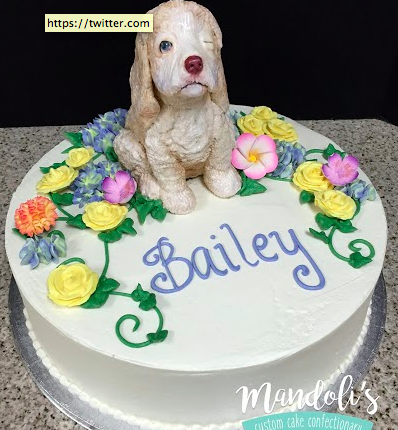 A Dog Sculpture Cake